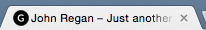 The black circle in this browser tab is an example of a Genesis favicon.