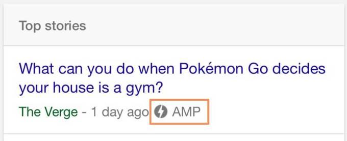 google-amp-label